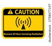 beware of biological hazard...   Shutterstock .eps vector #1758477197