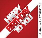 happy birthday greeting card... | Shutterstock .eps vector #1758486281