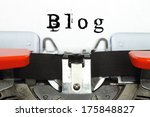 part of typing machine with... | Shutterstock . vector #175848827