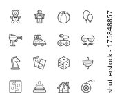 toy icons | Shutterstock .eps vector #175848857