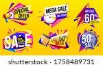 sale banner vector. discount... | Shutterstock .eps vector #1758489731