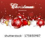 christmas card with christmas...   Shutterstock .eps vector #175850987