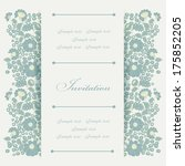 wedding invitation card with... | Shutterstock .eps vector #175852205