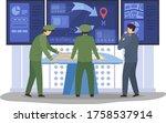 war digital control panel ...   Shutterstock .eps vector #1758537914