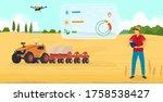 agriculture farming vector... | Shutterstock .eps vector #1758538427