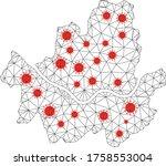 polygonal mesh seoul city map... | Shutterstock .eps vector #1758553004