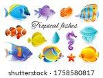 Tropical Fish Set. Vector...