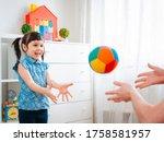 Children Little Girl Play In A...