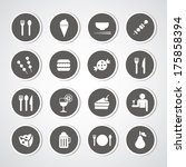food and drink icon for use  | Shutterstock .eps vector #175858394