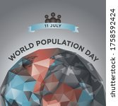 world population day  11 july.... | Shutterstock .eps vector #1758592424