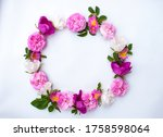 Pattern  Wreath  Flowers  Fram...