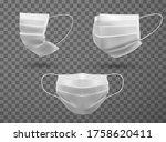 medical masks realistic white... | Shutterstock .eps vector #1758620411