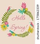 hello spring | Shutterstock .eps vector #175862339