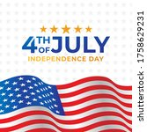 fourth of july independence day ... | Shutterstock .eps vector #1758629231