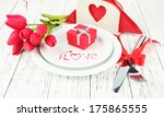 romantic holiday table setting  ... | Shutterstock . vector #175865555