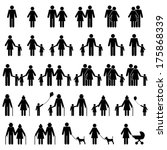 People Family Icons Set | Shutterstock vector #175868339