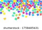 abstract mind breaker jigsaw... | Shutterstock .eps vector #1758685631