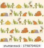 vector forest background. rest... | Shutterstock .eps vector #1758704024