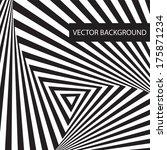 optical illusion art circle... | Shutterstock .eps vector #175871234