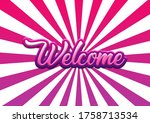 welcome hand writing lettering... | Shutterstock . vector #1758713534