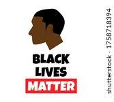 black lives matter protest... | Shutterstock .eps vector #1758718394