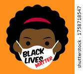 black lives matter cartoon... | Shutterstock .eps vector #1758718547