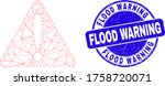 web mesh warning icon and flood ... | Shutterstock .eps vector #1758720071