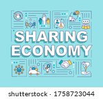 sharing economy word concepts...