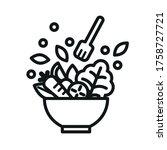 vegetable salad meal symbol icon | Shutterstock .eps vector #1758727721