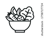 vegetable salad meal symbol icon | Shutterstock .eps vector #1758727724