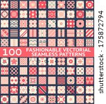 100 fashionable vintage vector...