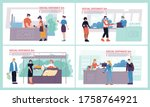 health safe social distancing.... | Shutterstock .eps vector #1758764921