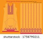 salwar kameez artwork for ready ... | Shutterstock .eps vector #1758790211