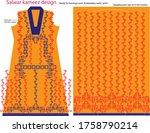 salwar kameez artwork for ready ... | Shutterstock .eps vector #1758790214