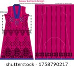 salwar kameez artwork for ready ... | Shutterstock .eps vector #1758790217