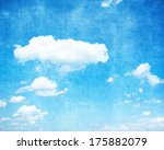 grunge blue background with... | Shutterstock . vector #175882079