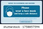 wear face mask notice. wear... | Shutterstock .eps vector #1758857594