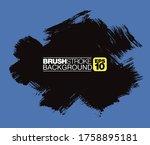 vector brushstroke background ... | Shutterstock .eps vector #1758895181
