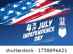 fourth of july independence day ... | Shutterstock .eps vector #1758896621