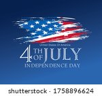 fourth of july independence day ... | Shutterstock .eps vector #1758896624