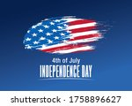 fourth of july independence day ... | Shutterstock .eps vector #1758896627