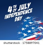 fourth of july independence day ... | Shutterstock .eps vector #1758897041