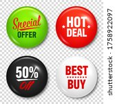 realistic badges with text.... | Shutterstock .eps vector #1758922097