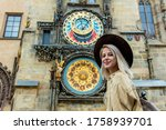 Blonde Girl With Hat And...