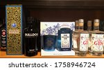 bottles of different brands of... | Shutterstock . vector #1758946724