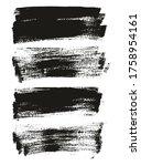 flat paint brush thin long... | Shutterstock .eps vector #1758954161