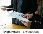 business team working in office  | Shutterstock . vector #1759003001