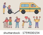 people are helping others in... | Shutterstock .eps vector #1759030154