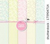 scrapbook paper floral... | Shutterstock .eps vector #175904714