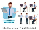 businessman character vector... | Shutterstock .eps vector #1759047494